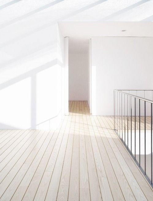 Pale wood plank floor