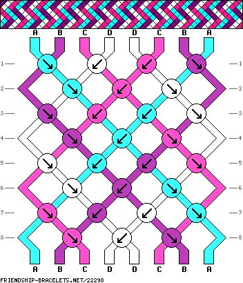 #22298 - friendship-bracelets.net Strings: 8 Rows: 8 Colors: 4