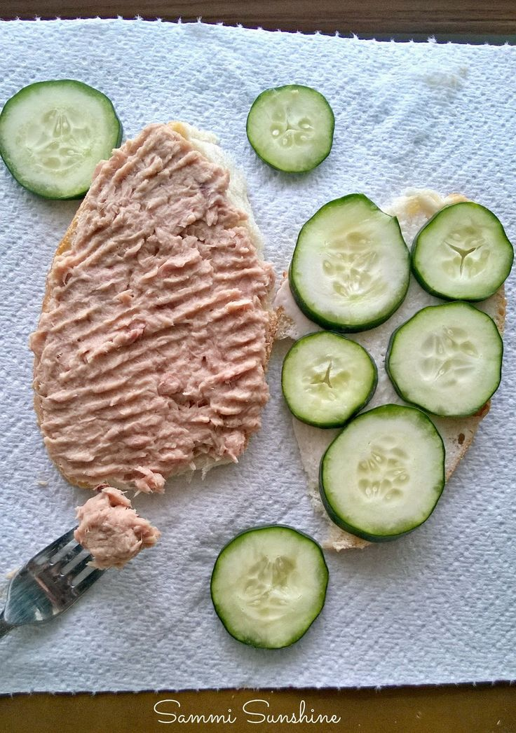 Cucumber adds a fresh flavor to your tuna sandwich! Add this vegetable for a fresh take on a classic favorite. {Sammi Sunshine}
