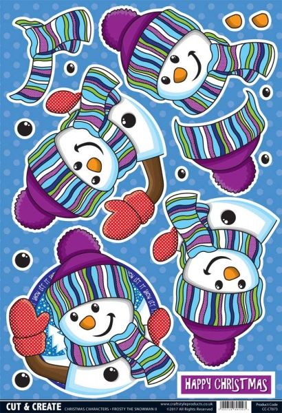 Buzzcraft Christmas Characters Cut & Create - Frosty the Snowman II