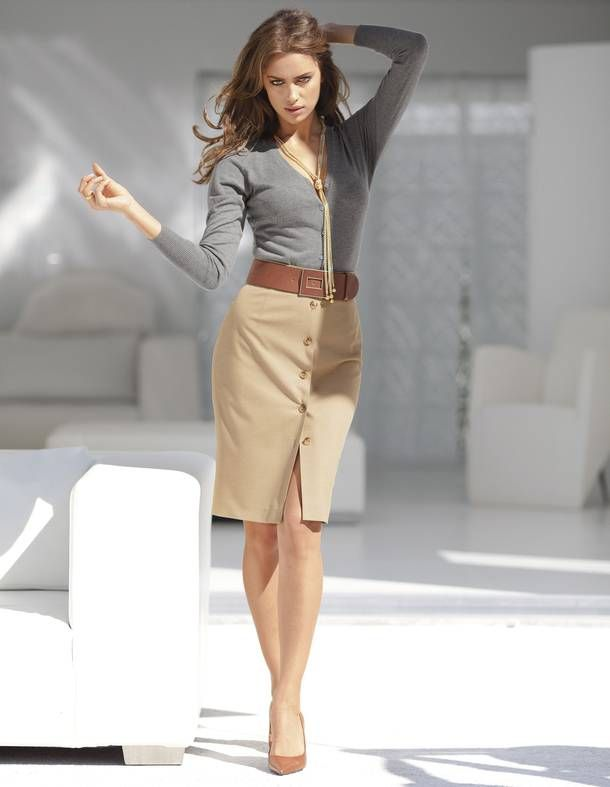 ~Khaki skirt, belt & a simple top. sometimes simplicity says so much. *