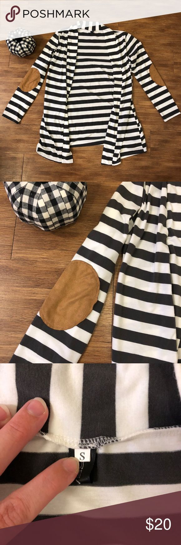 Striped Cardigan Online boutique cardigan gray and white Sweaters Cardigans