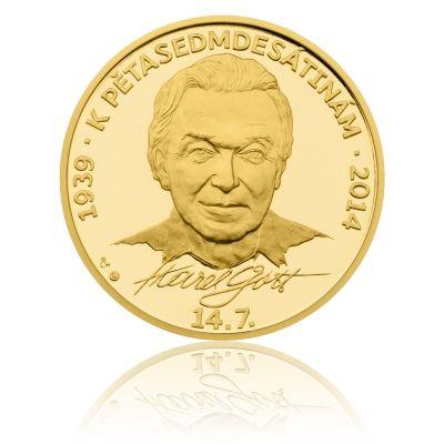 Zlatá kilová medaile Karel Gott stand | Česká mincovna