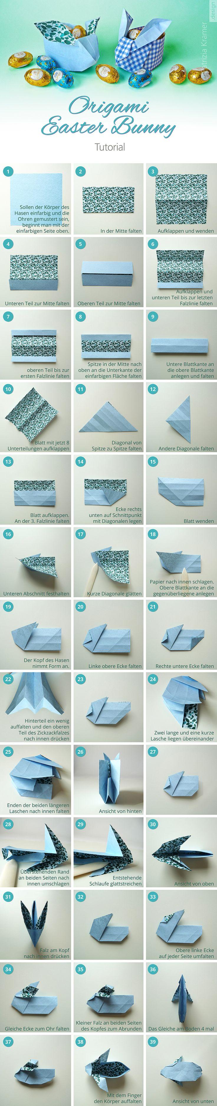 Origami Osterhasen  Easter Bunny Tutorial