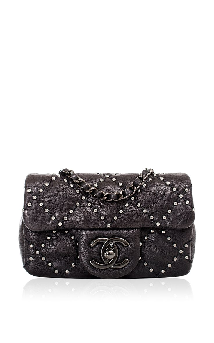 dbcaeb5b026e Chanel Black Lambskin Mini Studded Flap Bag by Madison Avenue Couture for  Preorder on Moda Operandi