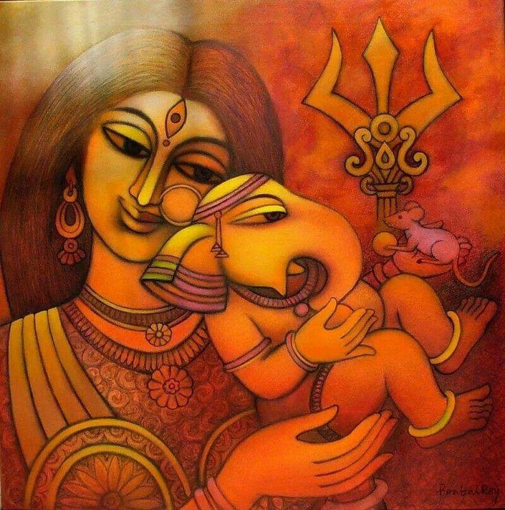 Parvati & Baby Ganesh