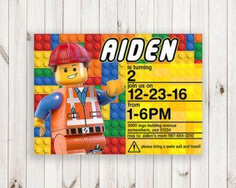 Lego divertido invitar invitación de cumpleaños por minprintable