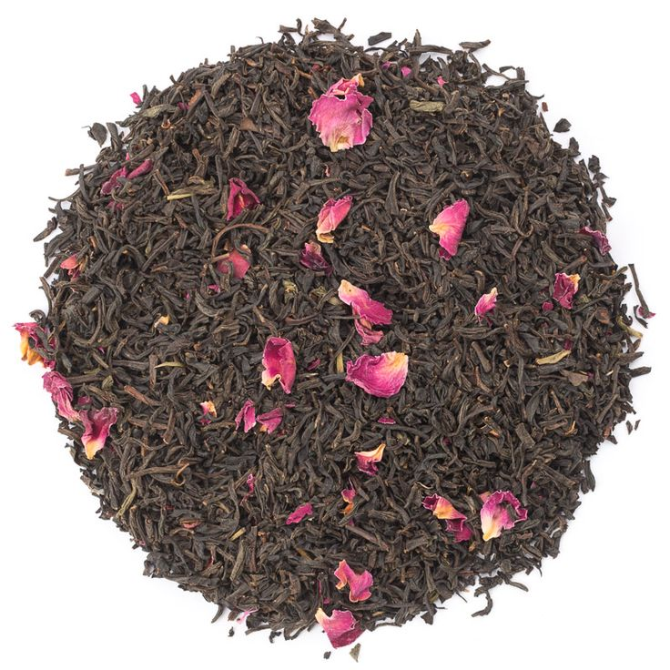 Rose tea with flowers