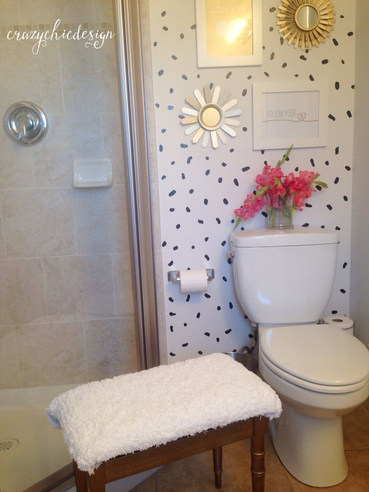 Whimsical Bathroom Wall Decor : Update a small space with fresh and trending pattern