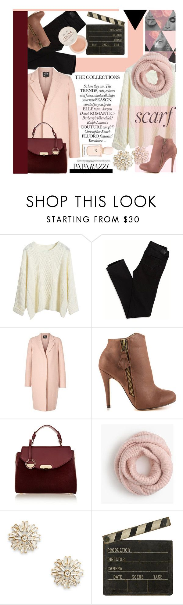 """""""It's a Wrap! Fun Fall Scarves"""" by prigaut ❤ liked on Polyvore featuring American Eagle Outfitters, McQ by Alexander McQueen, Michael Antonio, Versace, J.Crew, Sole Society, Ballard Designs, Fresh, Nicole and Aroma"""