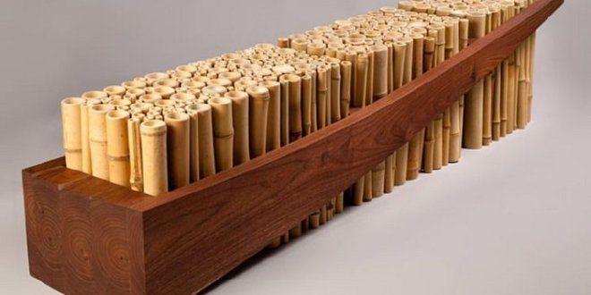 Der Bambus gehört zu den zahlreichen Arten von Bambusgewächse. Der schnell wachsende Rohstoff bedeck...
