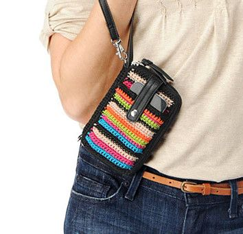 sak crochet cell phone cozy