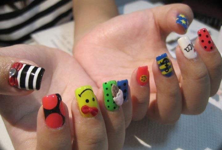 Diffe Designs On Each Nail Best 2018 Design Image Collections Art
