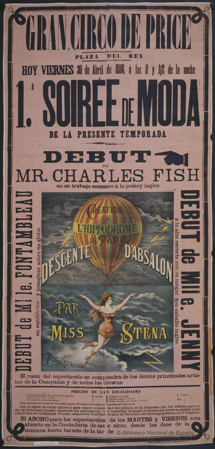Debut de Mr. Charles Fish. Circo Price — Dibujos, grabados y fotografías — 1886