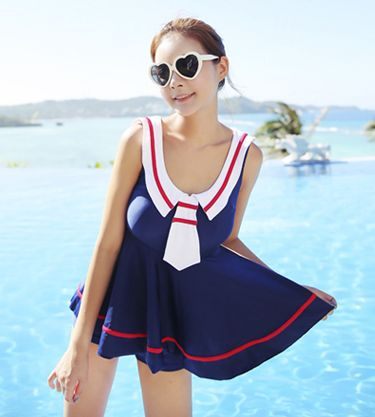 """Color: navy blue.  Size:M,L,XL.  Size:M: Bust:82 cm/31.98"""",Waist:66 cm/25.74"""".  Size:L: Bust:84 cm/32.76"""",Waist:68 cm/26.52"""".  Size:XL: Bust:86 cm/31.20"""",Waist:70 cm/37.30"""".  Fabric material: nylon.  Tips: *Please double check above size and consider your measurements before orde..."""