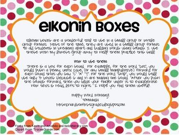 Elkonin Box- did this with a dry erase board and the kids drew a line the number of sounds they heard