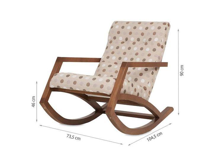 Cadeira de Balanço Mordomia - Chocolate + Tecido Bolas                                                                                                                                                                                 Mais