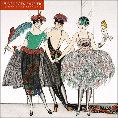 Georges Barbier Wall Calendar: This wall calendar for 2012 features a dozen Art Deco fashion illustrations by Georges Barbier (1882 – 1932), known for his ballet and theatre costume designs. The calendar features glitter accents on every page!  $14.95  http://www.calendars.com/Assorted-Fine-Art/Georges-Barbier-2013-Wall-Calendar/prod201300000881/?categoryId=cat00016=cat00016#