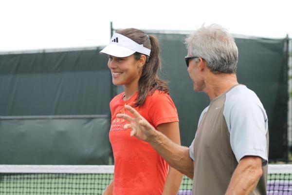 Ana with ex coach Nigel Sears
