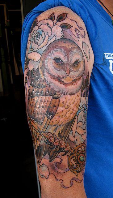 ryan mason owl tattoo  http://www.flickr.com/photos/rrryanmason