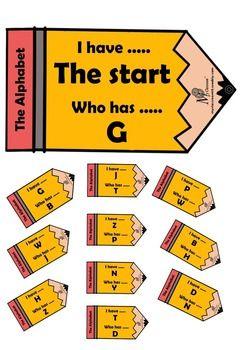 This great set of I have... Who has ... cards is a great warm up activity for students learning the alphabet. Excellent for ESL students and ES1 classes. I recommend that teachers print off the cards, cut them out, laminate, cut out again and then punch a hole in the tip of the pencil and loop together with ring.I hope you love this resource as much as I do!