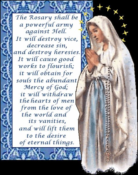 "The Holy Rosary is a form of vocal and mental prayer while meditating on the ""mysteries"" of our Redemption."