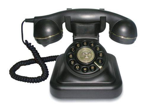 Swissvoice Vintage 20 - Schnurgebundenes Analog-Telefon im stilvollen Retro-Design mit vergoldeten Details