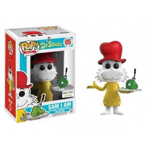 Funko Pop! Flocked Sam I Am, Barnes & Noble Exclusive, O Gato de Chapéu, Cat in the Hat, Cartoon, Dr. Seuss, Funkomania, Books, Livros
