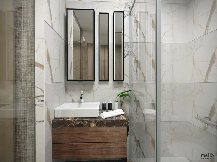 Bathroom #marble #bathroomdesign #concept #inteior #brownmarble