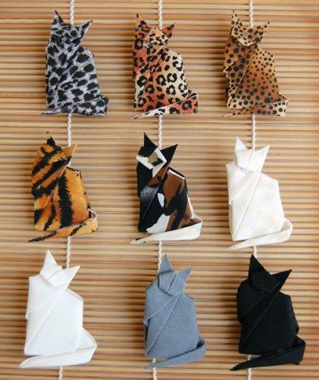 Origami cats  Found on rafu.com