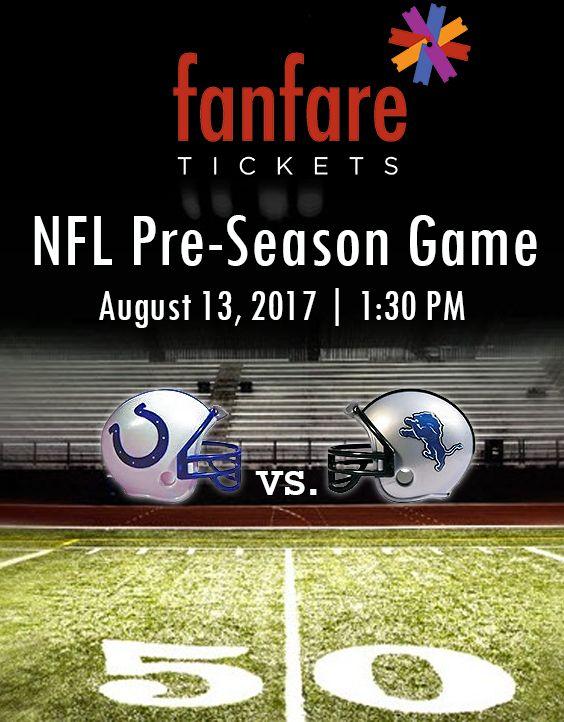 NFL Preseason: #IndianapolisColts vs #DetroitLions. Buy tickets at fanfaretickets.com