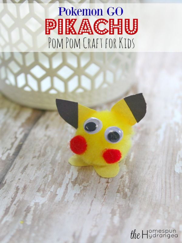 If your children are a fan of Pokemon GO this Pikachu craft for kids is simple, easy, and cheap to make!