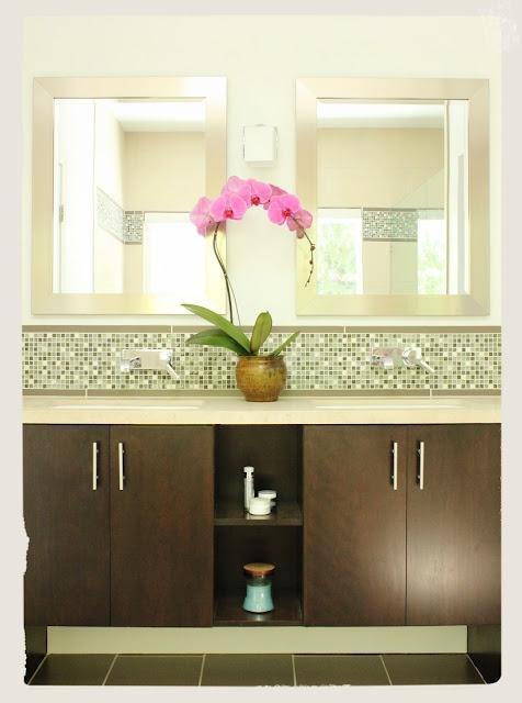 Bathroom Vanity Mosaic Tile Backsplash Design Amp Photo