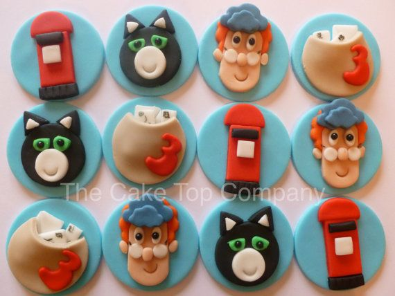 Hey, I found this really awesome Etsy listing at https://www.etsy.com/uk/listing/471620794/postman-pat-cupcake-toppers-and-jess-the