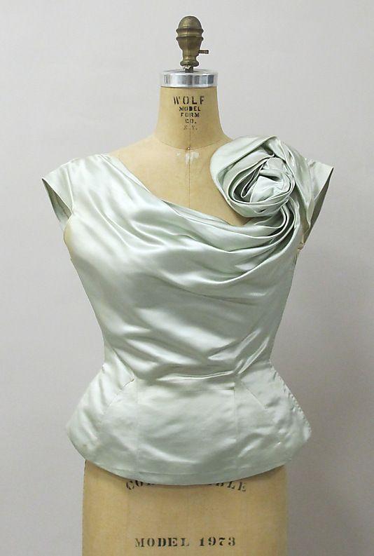 Evening blouse Charles James (American, born Great Britain, 1906–1978) Date: 1951 Culture: American Medium: silk