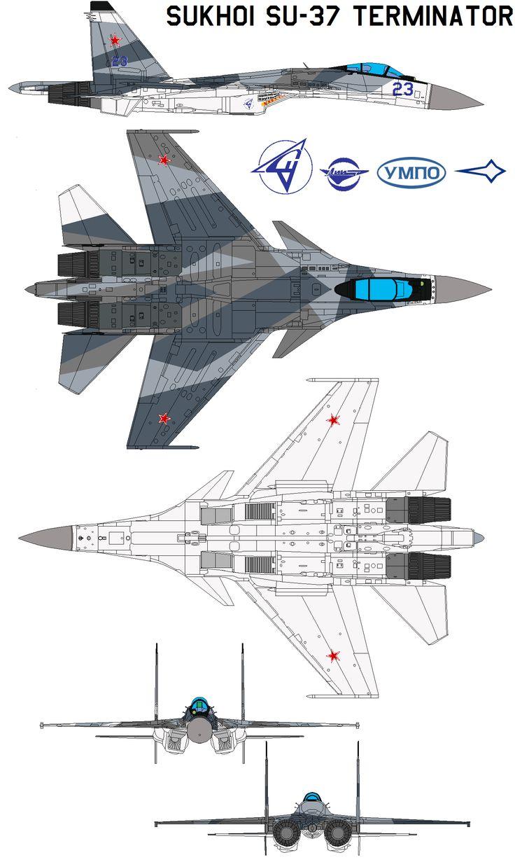Sukhoi Su-37 Terminator by bagera3005.deviantart.com on @deviantART