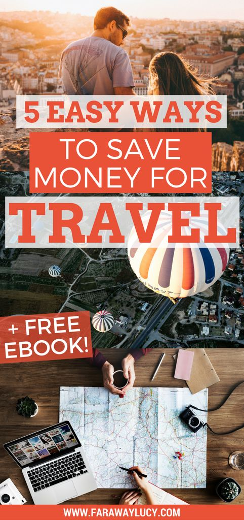 5 easy and unique ways to save money to travel the world. Click through to read more and download the free 28 page eBook...