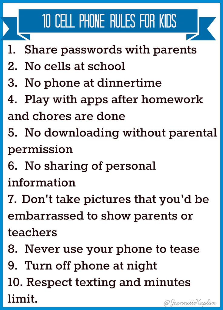 Thinking of handing your kid a cell phone? Check out these 10 Rules to Consider