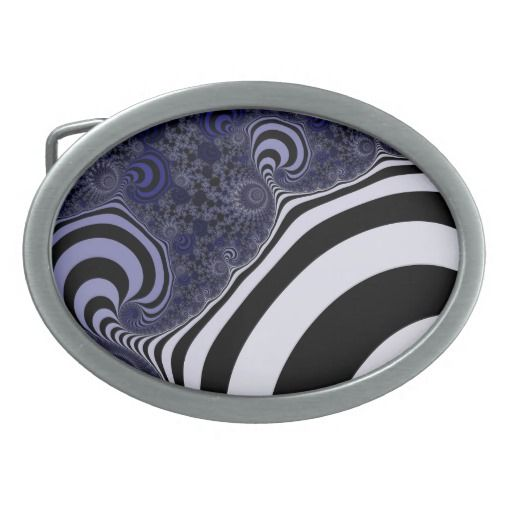 Blue and black striped fractal. oval belt buckle #beltbuckle #customized, personalized, artwork, buy, sale, #giftideas, #zazzle, shop, discount, deals, gifts, shopping, abstract, antenna, art, artwork, bee, black, #blue, bright, cold colors, computer, cool colors, duotone, #fractal, fractal art, fractal artwork, generated, illustration, julia, light, locator, mandelbrot, pattern, paw, square, striped, suction, white, strip, dark, funny strips, modern