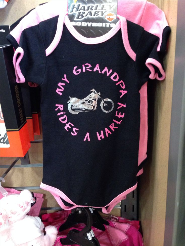 My Grandpa Rides a Harley onesie for baby girl http://orlandoharley.com/ - #OrlandHarley #Harley #Orlando Harley-Davidson®