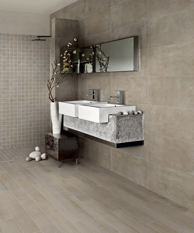 298 best Salle de bain images on Pinterest Bathroom, Bathrooms and - Stratifie Mural Salle De Bain