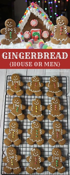 Easy gingerbread recipe that's perfect for gingerbread men cookies or a homemade gingerbread house! Soft with a wonderful molasses spice flavor! #gingerbread #gingerbreadhouse #gingerbreadcookie #gingerbreadmen #gingerbreadgifts #christmas #christmascookieideas #christmascookierecipes #christmascookies #cookies