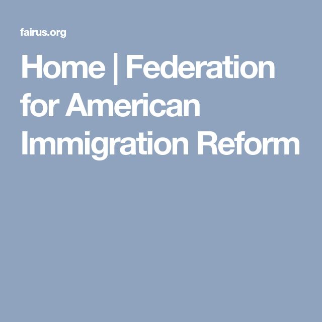 Home | Federation for American Immigration Reform