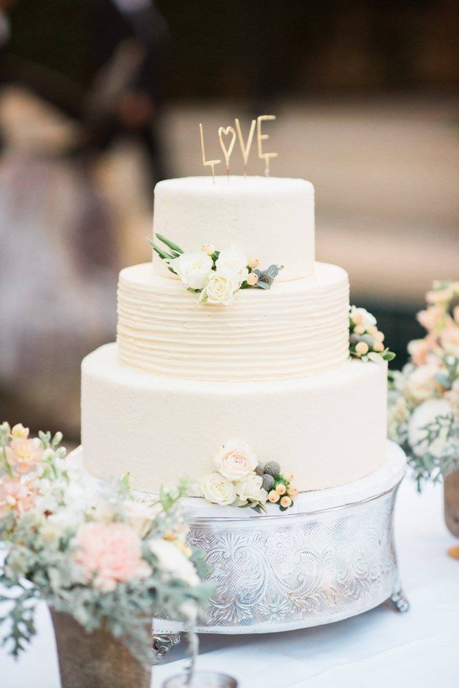 Wedding Cakes Picture Description Love Topped Cake Floral Design THE LITTLE BRANCH