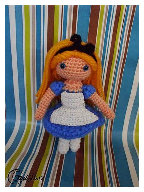 Alice in Wonderland Amigurumi - FREE Crochet Pattern by Tsukeeno' s