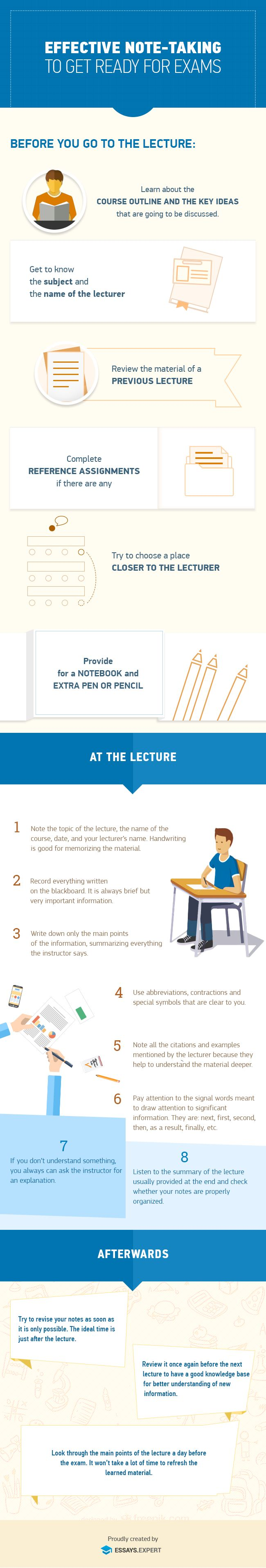 You need to get good grades to do well in college. We have provided you with great lecture tips for free. Learn how to properly take effective notes in your lecture, and how to do make revise them before your big exam.