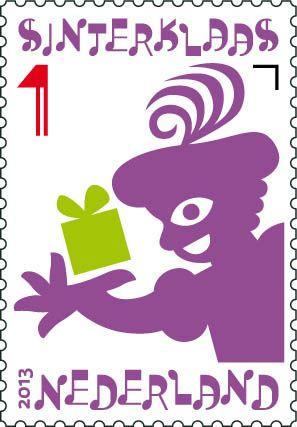 Sinterklaaspostzegels 2013: Zwarte Piet