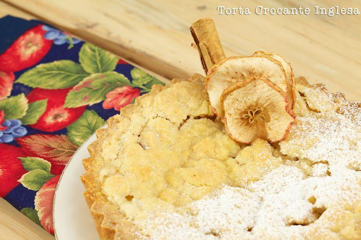 El famoso Crumble inspira nuestra Torta  Crocante Inglesa. Combinación de manzana, nuez y canela. Crocante por fuera y jugos en su interior. Comunícate con Olguita al 3123629574 y pide lo que quieras!