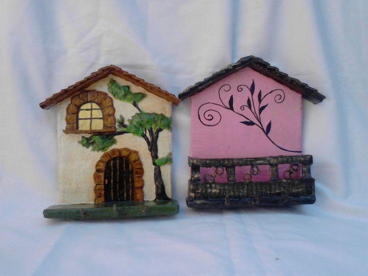 portallaves y porta sobres hecho de carton
