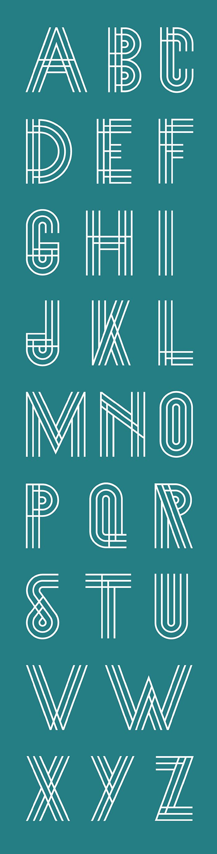 typeface -- architectural, modern, innovative, reliant on human recognition of letterforms